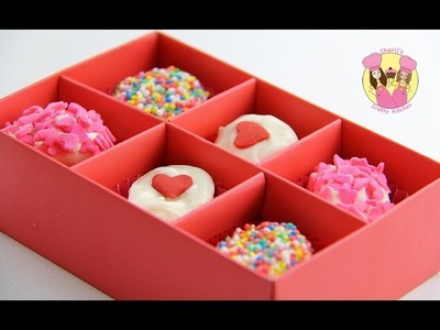 EASY MARSHMALLOW VALENTINES TREATS - looks like a box of chocolates - how to baking