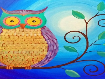 Easy Owl Acrylic Painting Beginner Tutorial | Live Full Length Online Class | Free Art Lesson