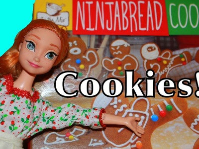 Frozen Disney Princess Anna Christmas Cookies Ninja bread GINGERBREAD nerdy nummies Walmart Toys