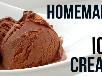 Homemade Dark Chocolate Ice Cream (How To Make - Easy Home Recipe)