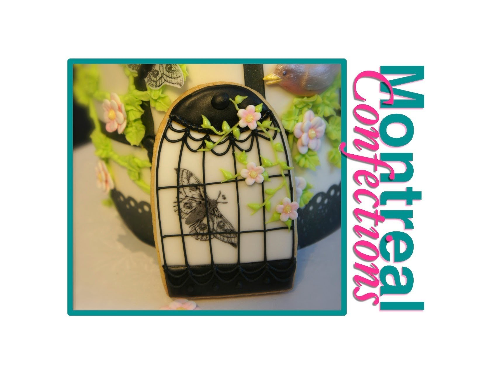How to decorate cookies - Birdcage cookie tutorial - Step 4