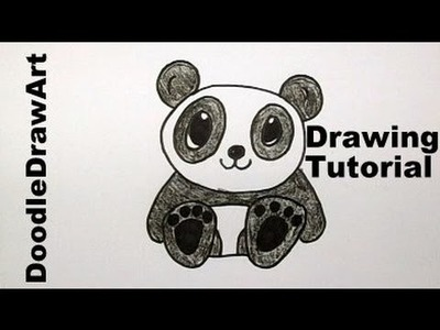 How To Draw A Baby Panda Bear Cartoon - Easy Drawing Lesson for Kids! tutorial