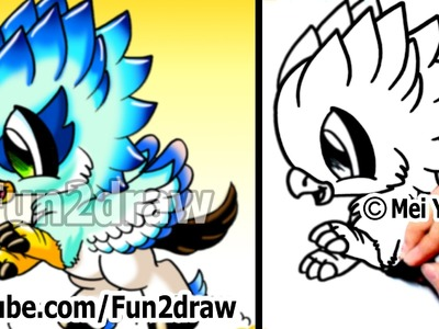 How to Draw Cool Stuff - Fantasy Hippogriff - Fun Things to Draw - Art Lessons - Fun2draw