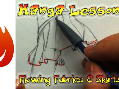How to Draw Manga: Flowing Fabrics and Skirts