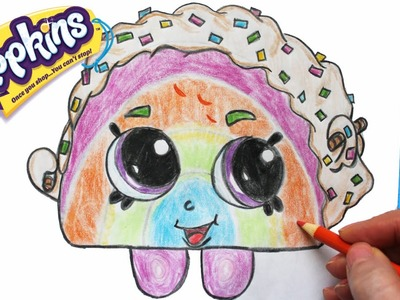 "How to Draw Shopkins Season 1 ""Rainbow Bite"" Step By Step Easy 