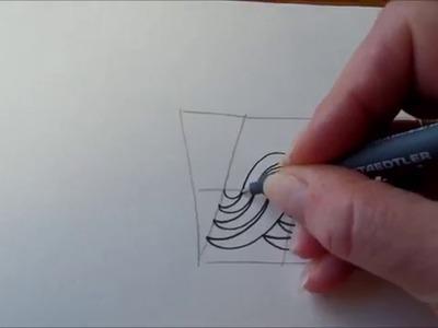 How to draw tanglepattern Ududu