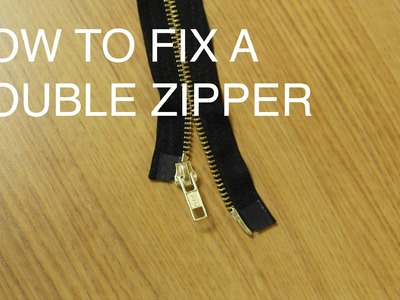 How to Fix.Repair a Double Slider Zipper (Two Way Separating)