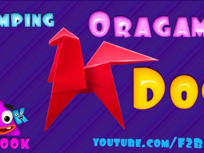 How to fold an Origami Dog - Jumping Dog Paper Folding