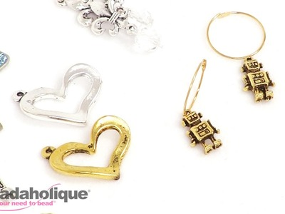 How to Make 2 Pairs of Quick & Easy Earrings with Charms
