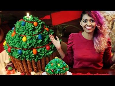 How to make a Christmas Tree Giant Cupcake! Sarah Trivedi