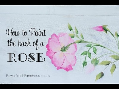 How to Paint the Back of a Rose