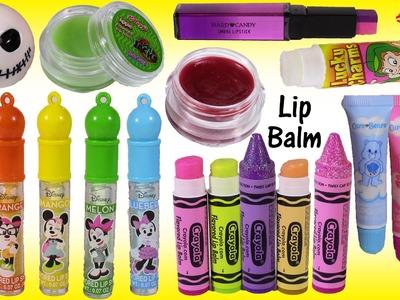 Lip Balm Bonanza 4! Minnie Mouse Lip Gloss CRAYOLA Crayons Care Bears SHOPKINS! Lipstick!