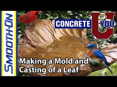 Make a Concrete Leaf Mold - Smooth-On Molds of Nature