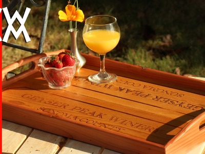 Make a serving tray using recycled wood.