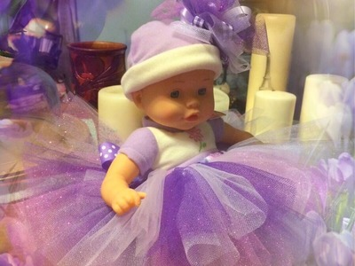 MAKE A TUTU - FOR BABIES NEWBORN TO 3 MONTHS, BITTY BABY, AMERICAN GIRL DOLLS, 18-INCH DOLLS
