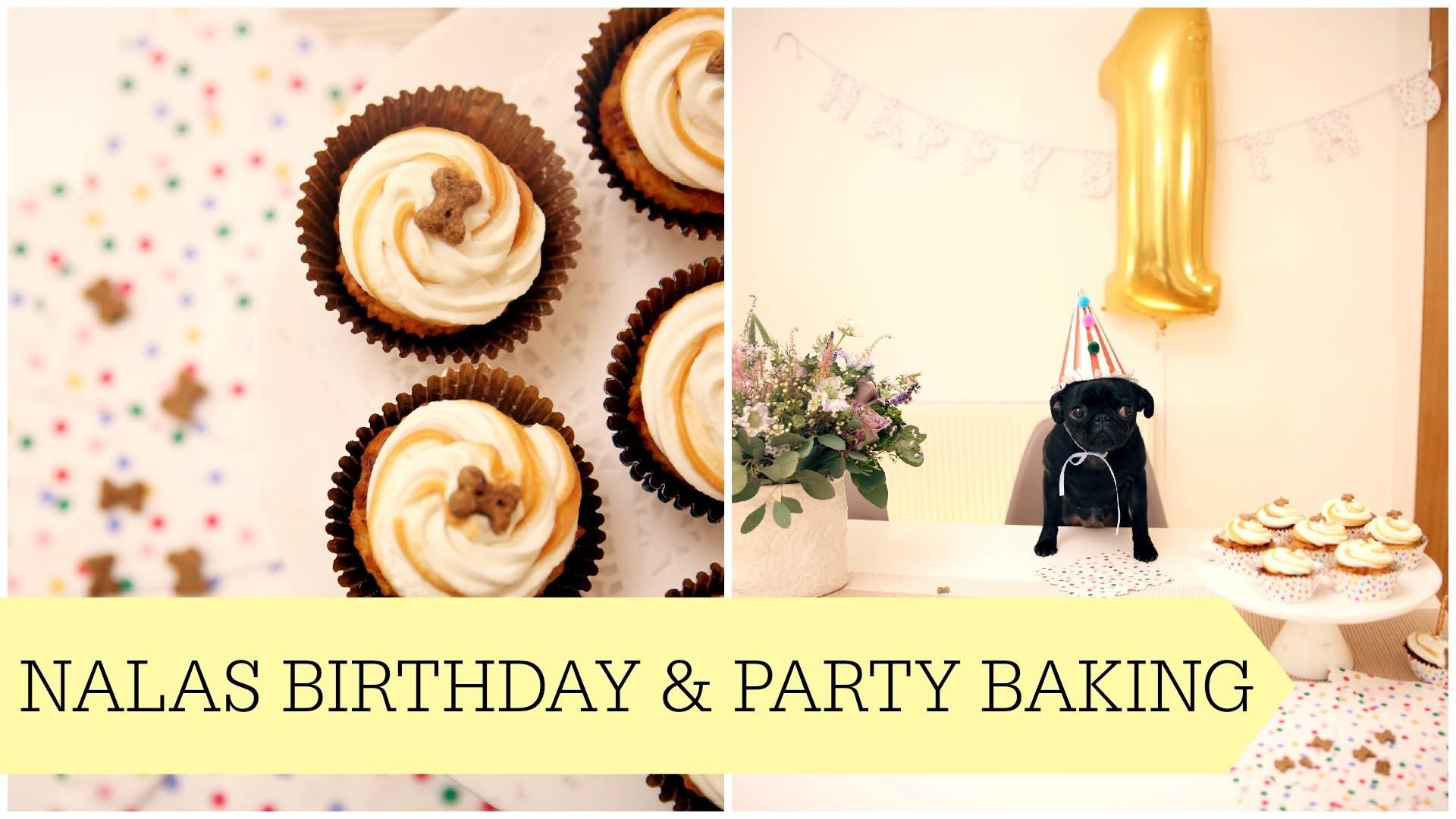 Nalas 1st Birthday & Puppy Party Baking