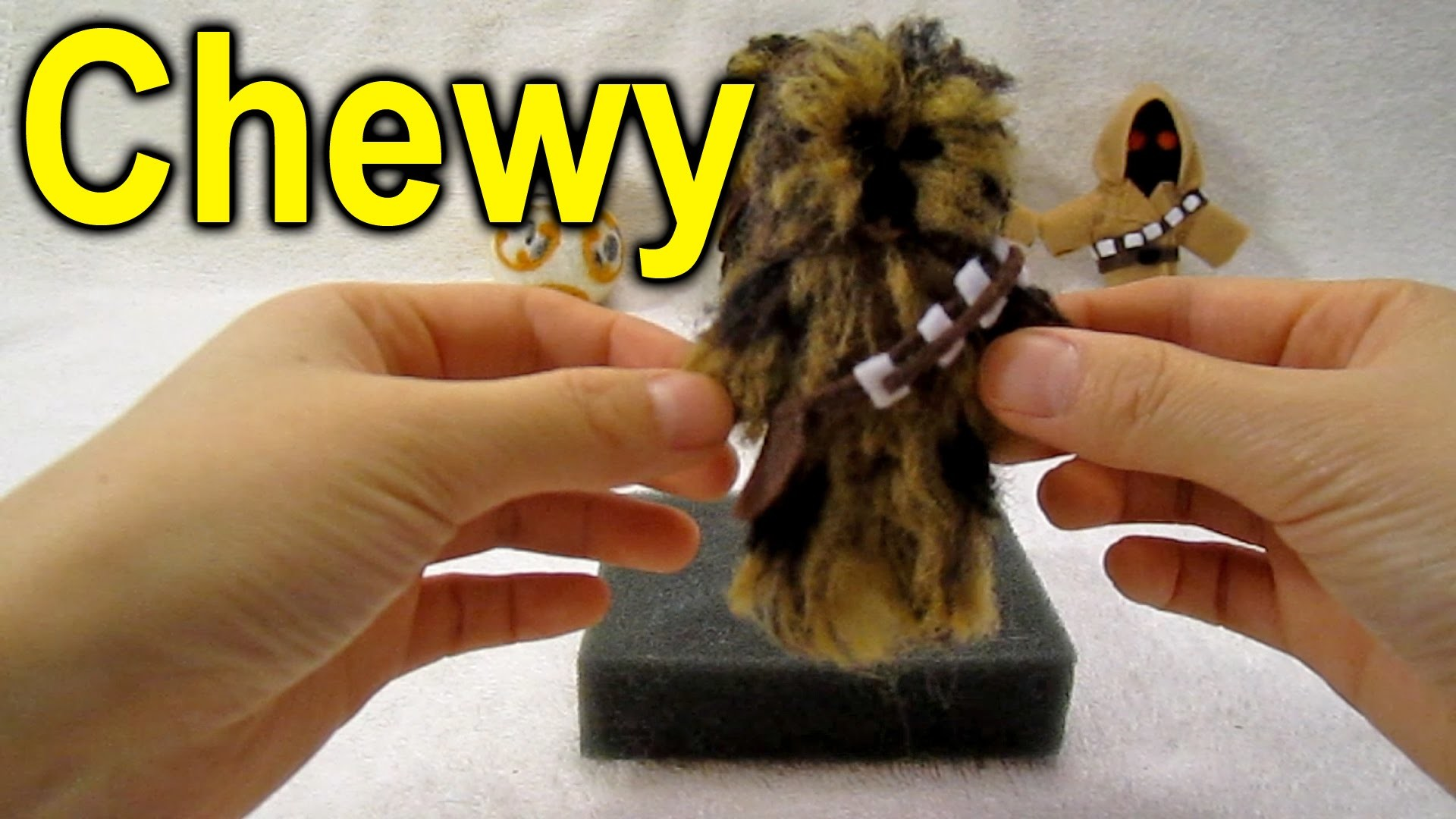 Needle felting tutorial ~► How to make a Star Wars Chewbacca character
