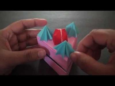 Origami Daily - 388: Strawberry Short Cake Box - TCGames [HD]