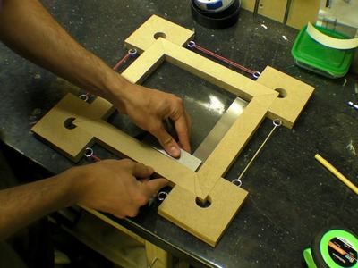 Picture Frame. Box. Corner Clamps - Four Corner Blocks with Rubber Bands
