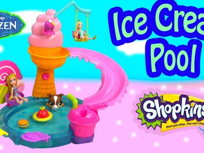 Polly Pocket Color Changer Doll Water Pool Playset Queen Elsa Disney Frozen Shopkins Season 3 Toy