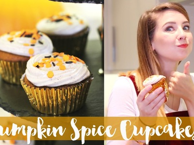 Pumpkin Spice Cupcakes with Cream Cheese Frosting | Zoella
