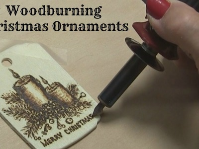 Pyrography Tutorial: Wood Burning a Candle Ornament