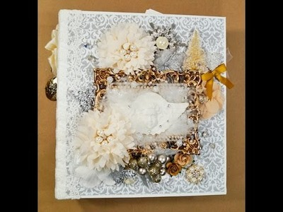 Silver and Gold Christmas Mini Album  Reneabouquets DT project