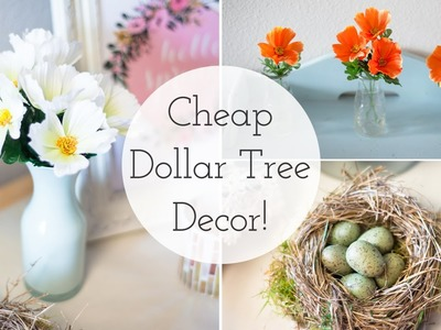 Spring Decor 2016 | Cheap Dollar Tree DIY Ideas
