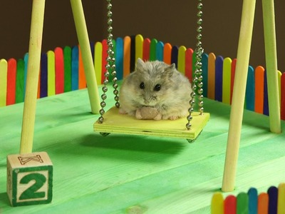 Tiny Hamster in a Tiny Playground
