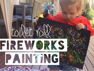 TOILET ROLL FIREWORKS PAINTING | Kids Craft Ideas - Mummy Maker
