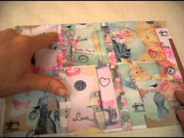 Use your scraps to make tags Vintage Ladies