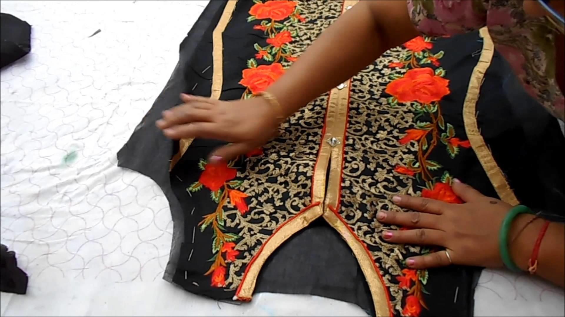 1. Cutting Semi-stitch Kurti and Attaching Lining - ★★Semi-stitch Kurti.Kameez With Lining★★ PUNJABI