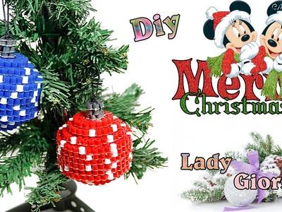 3D Addobbo Natalizio con Hama Beads.Christmas ornament Perler Beads