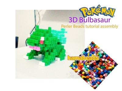 3D perler hama beads beadsprite Bulbasaur Pokemon tutorial assembly