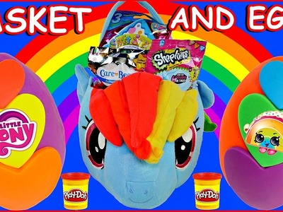 A 20% COOLER Rainbow Dash HALLOWEEN Surprise Basket + 2 Play Doh Eggs | My Little Pony Toys MLP