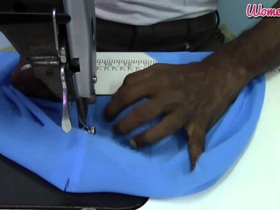 A-Line Umbrella Dress (Single Piece) : 7. Making the churidhar   (Waist Piece)