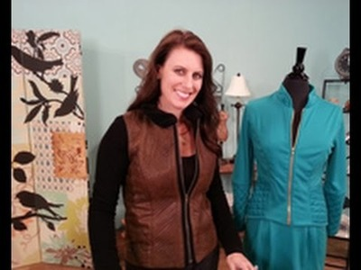 Angela Wolf Uses a Walking Foot to Quilt a Jacket on It's Sew Easy (713-2)