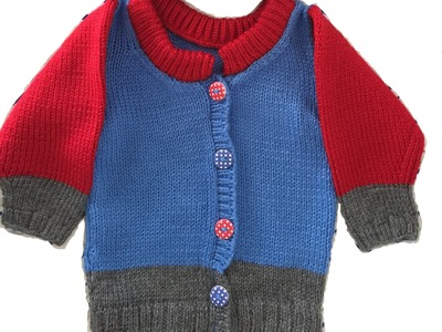 Baby boy sweater KNITTING PATTERN instructions