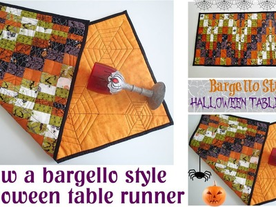 Bargello Style Halloween Table Runner Quilt