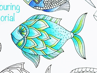 Colouring Tutorial - how to color a #LostOcean fish