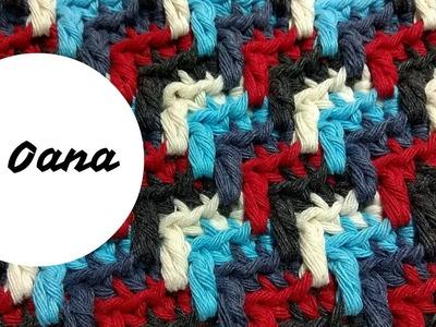 Crochet apache tears stitch in round