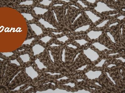 Crochet giant fan stitch by Oana
