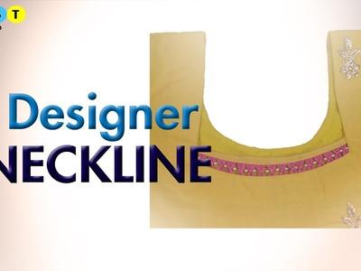 Designer Neckline using beads