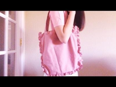 DIY.How-to: Larme Kei Inspired Ruffle Tote Bag Tutorial
