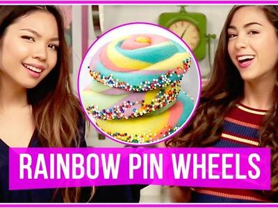 DIY Rainbow Sprinkle Cookies!  | Let's Get Snacking w. MissTiffanyMa and ClayCupcakes4