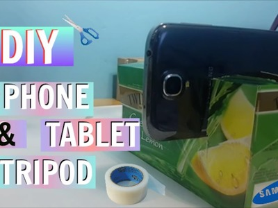 DIY Smart Phone and Tablet Tripod for New Youtubers