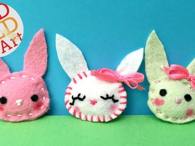 Easy Felt Bunny Brooch - Sewing for Beginners