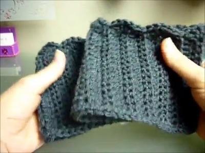 Easy & Quick Crocheted Boot Cuffs w. Scallop Edge | Video Tutorial