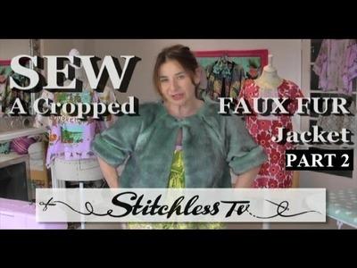 Faux fur jacket sew along - part 2