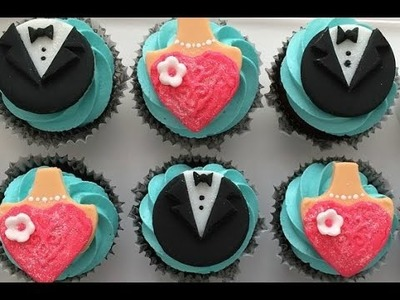 Formal Wear Cupcake Toppers- Part 1- Tuxedo Topper